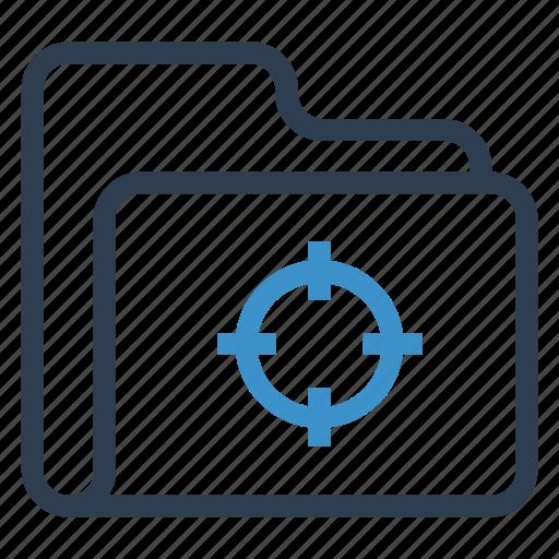 archive, data, folder, storage, target icon