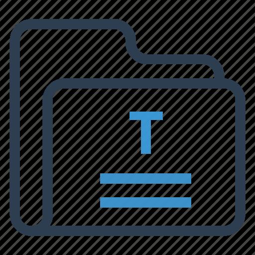 archive, data, folder, storage, text icon