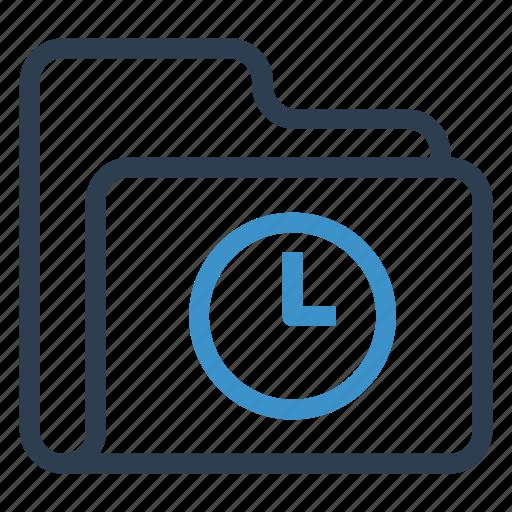 archive, data, folder, storage, watch icon