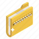 compressed folder, confidential folder, close binder, archive, zip document, zip folder icon