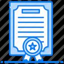 achievement certificate, award certificate, certificate, deed, degree, diploma