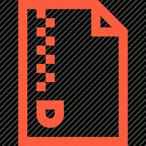 archive, doc, document, encrypt, file, info, zip icon