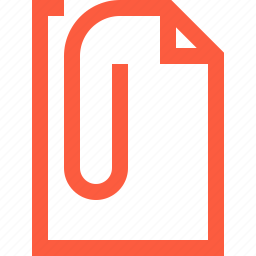 attach, attachment, clip, doc, document, enclosure, file icon