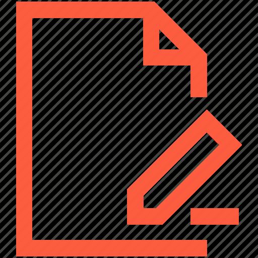 change, correct, doc, document, edit, file icon