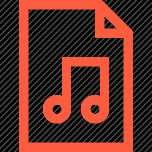 audio, doc, document, file, multimedia, music, track, tune icon