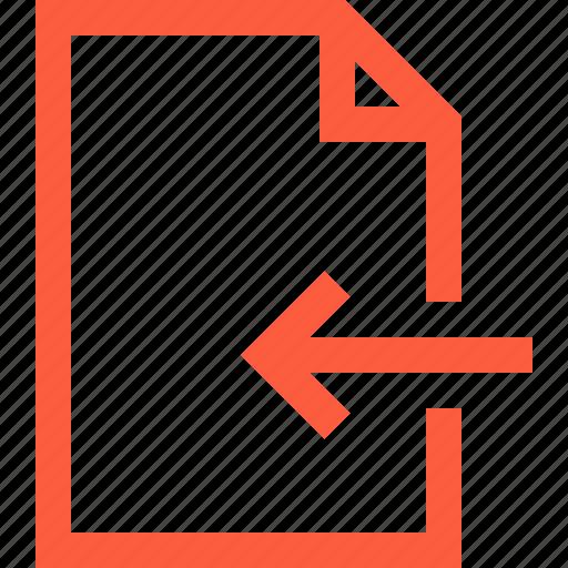 doc, document, file, insert, inside, open icon