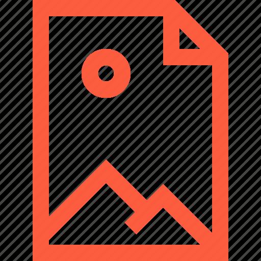 art, doc, document, file, image, landscape, picture icon