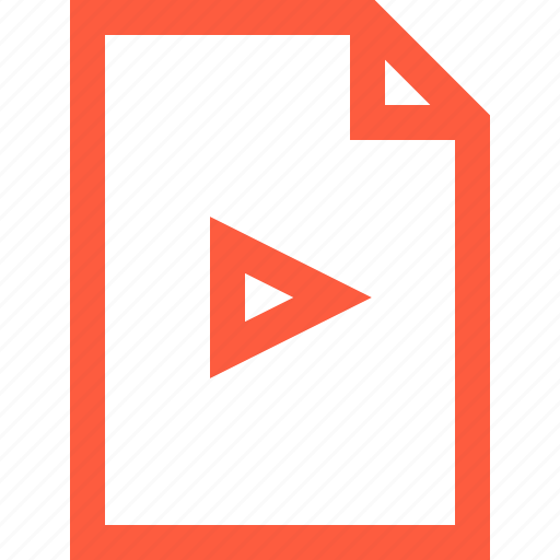 doc, document, file, movie, multimedia, play, video icon