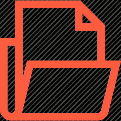 case, directory, doc, document, file, folder, open icon