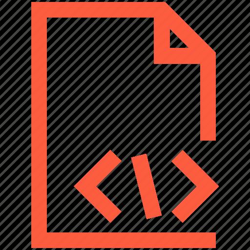 code, command, document, file, programming, script, terminal icon