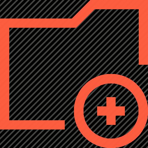 add, addition, directory, folder, new, plus icon