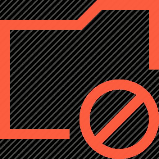 ban, block, directory, folder, forbidden, taboo icon