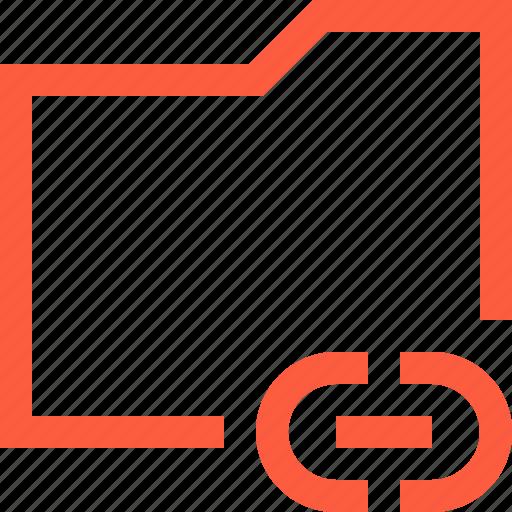 case, chain, directory, document, folder, hyperlink, link icon