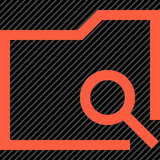 case, data, directory, document, folder, search icon