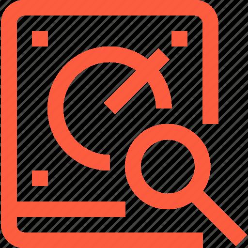 data, drive, hard, hdd, search, storage icon