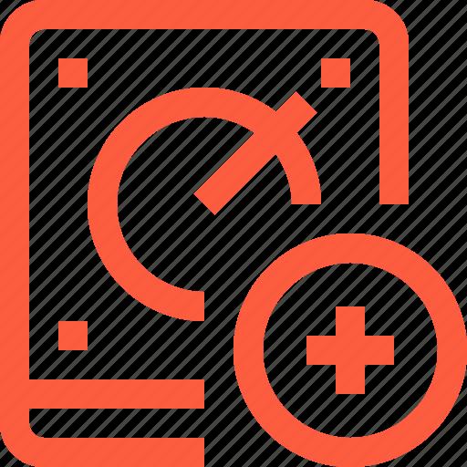add, data, drive, hard, hdd, new, plus, storage icon