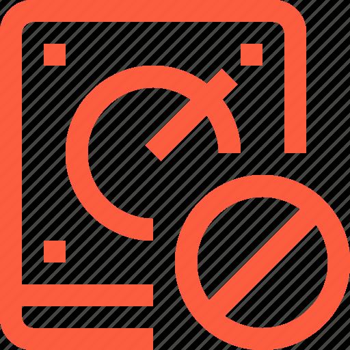 block, cancel, data, discard, drive, hdd, storage icon