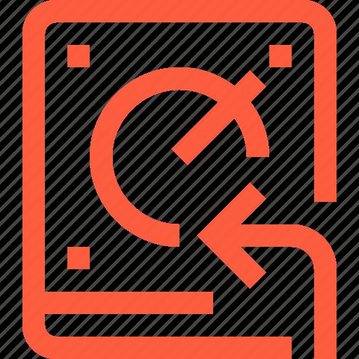 data, drive, hard, hdd, import, insert, storage icon