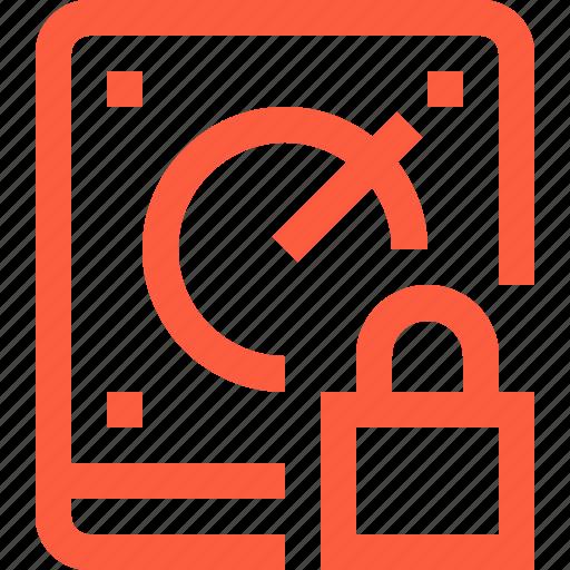 access, data, hdd, lock, pass, password, storage icon