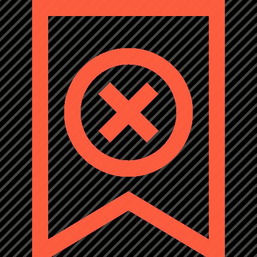 ban, bookmark, cancel, decline, delete, prohibition, tassel icon
