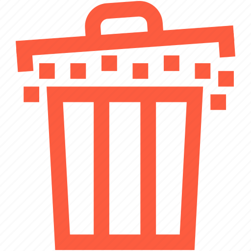 basket, bin, container, dustbin, full, garbage, trash icon