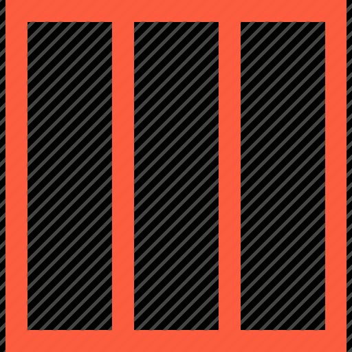 column, lane, pattern, rectangle, shape, view icon