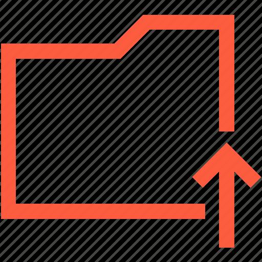 data, directory, folder, insert, send, upload icon