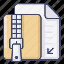 archive, compress, rar, zip icon