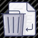 delete, file, remove, trash icon