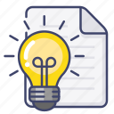 creative, document, file, idea icon