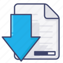 document, download, file icon