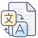 document, file, language, tranlate icon