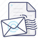 document, email, file, mail icon