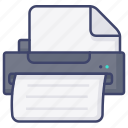 document, file, print, printer icon