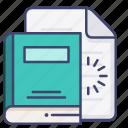 document, ebook, file, read icon