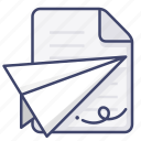 document, file, message, send icon