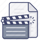 file, film, movie icon