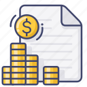 account, accounting, file, finance icon