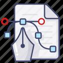 adobe, coraldraw, file, illustration icon