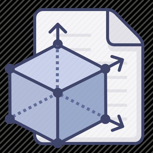 3d, design, file, modle icon