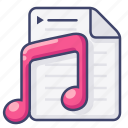 file, music, player, playlist icon