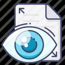 file, preview, read, view icon