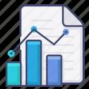 business, diagram, file, report icon