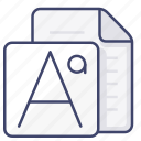 file, font, type icon