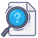 find, help, question, search icon