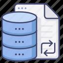 data, datebase, storage, transfer icon