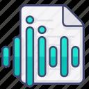 audio, file, sound, wave icon