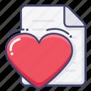 favorite, file, like icon