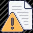 alert, danger, file, warning icon