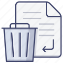 delete, file, remove, trash icon